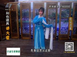 杨亚萍演唱越剧《枝头鸟雀》